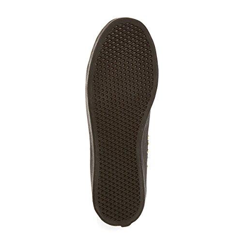 Vans SK8 HI PLATEFORM STUDDED Black Gold Canvas Women Sneakers Shoes sX0VO