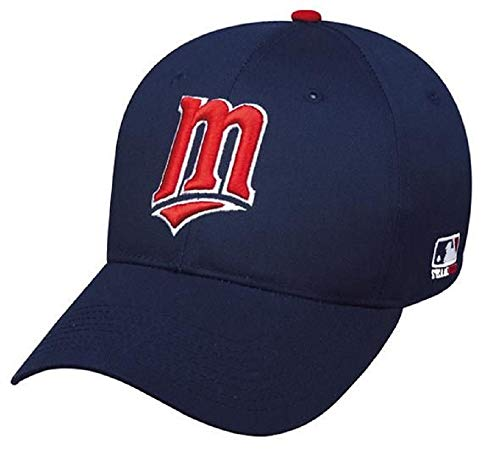 OC Sports Minnesota Twins MLB Retro Throwback Navy Blue Hat Cap M Logo Adult Men's Adjustable (Minnesota Twins Baseball Hat)