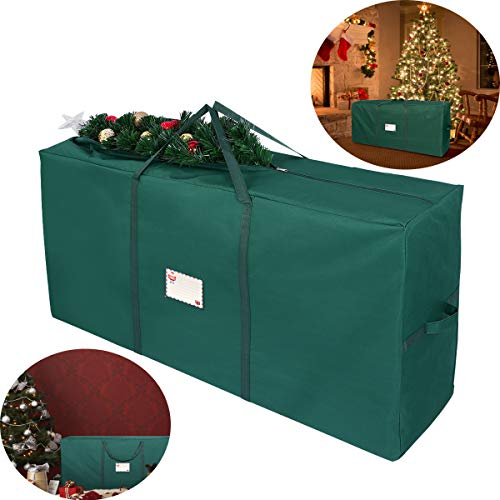 Christmas Tree Storage Bag, Fit Up to 7Christmas Tree Container for Artificial Tree 53 13.4 26.8 inch (Green)