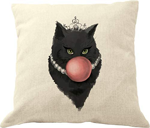 """AM/_ 18/"""" BOOKS CATS THROW PILLOW CASE CUSHION COVER SOFA BED CAFE HOME DECOR NICE"""