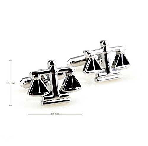 Hosaire Men's Cufflinks The Balance Cuff Link Delicate Cuff-link for Wedding Party Silver by Hosaire (Image #2)