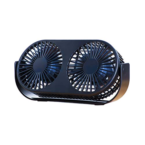 Engine Twin Mosquito (KSWD Desk Fan Twin Engine USB Powered, Silent Quiet Mini Portable 3 Speed Rotatable Office Bedroom Aromatherapy Function 230×49×115mm,Black)