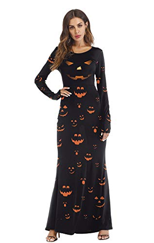 Honeystore Women's Bloody Dead Bride Halloween Costume Dress Outfits Red Black S/M T2003 -