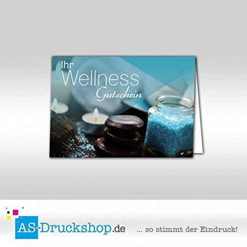 Gutschein Wellness - Hellblau     100 Stück   DIN A6 B079PZKQ4L | Vollständige Spezifikation  1d1785