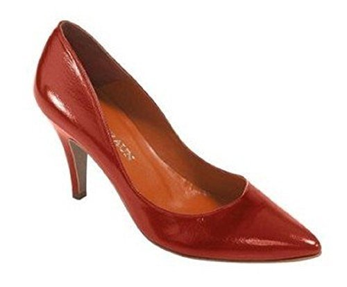 DAVID BRAUN Pumps - Sandalias de Vestir de cuero Mujer Rojo - Rouge - Koralle