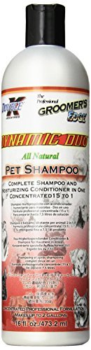 Dynamic Duo Shampoo - Groomer's Edge Dynamic Duo Dog and Cat Shampoo/Conditioner, 16-Ounce by Groomers Edge
