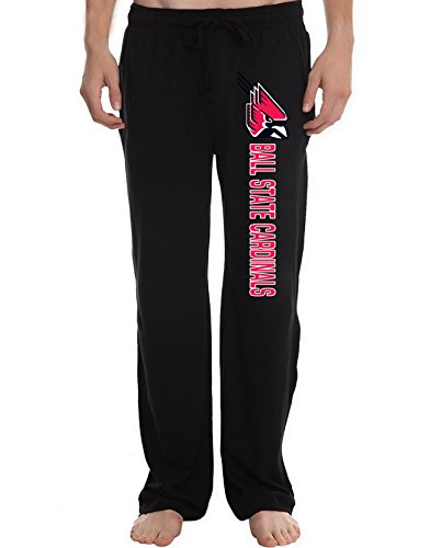 Wood St Louis Rams Football (AMTT Men's Ball State Cardinals College football Lounge Pajama Pants)