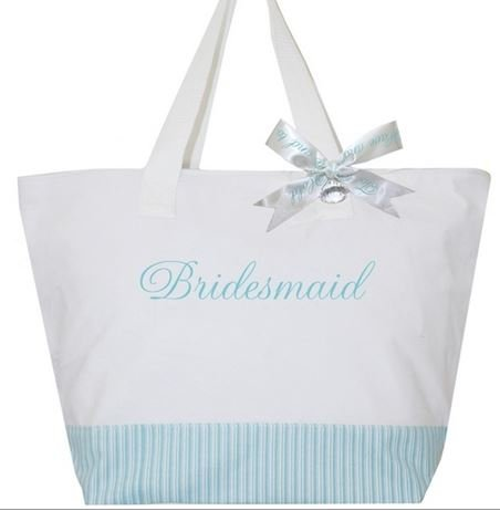 b8fd30af84aec Amazon.com   Something Blue Bridesmaid Tote Bag - A Great Bridesmaid Bridal  Party Gift   Everything Else