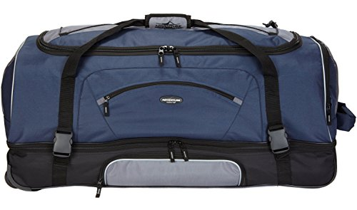 (Travelers Club Luggage Adventure Rolling Duffel, 36 Inch, Blue)