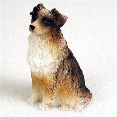Brown Tiny One Figurine - Australian Shepherd, Brown Tiny Ones Dog Figurines (2 1/2in)