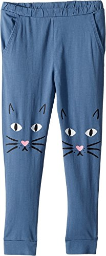 Cotton Jersey Knee Pants - Chaser Kids Baby Girl's Jersey Meow Knees Sweatpants (Toddler/Little Kids) ST Tropez 6