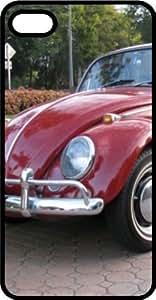 Classic Volkswagen Beetle Bug Black Plastic Case for Apple iPhone 4 or iPhone 4s