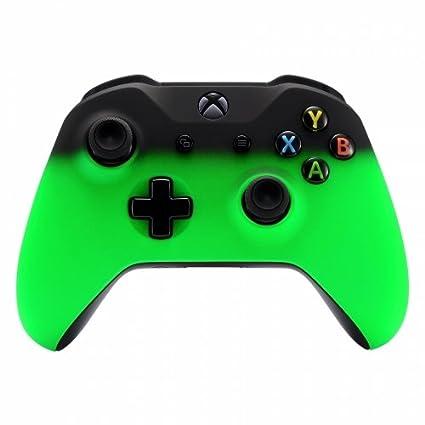 Xbox One Wireless Controller for Microsoft Xbox One - Custom Soft Touch  Feel - Custom Xbox One Controller (Green & Black Fade)