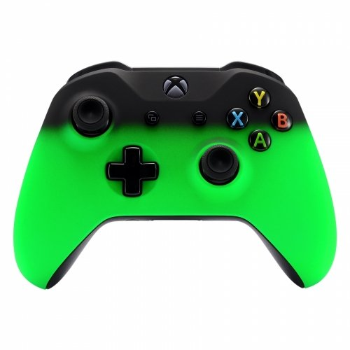 Xbox One Wireless Controller for Microsoft Xbox One - Custom Soft Touch Feel - Custom Xbox One Controller (Green & Black Fade)