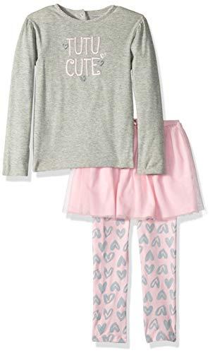 (Gerber Girl's Standard Shirt and Tutu Legging Set, Hearts, 3T)