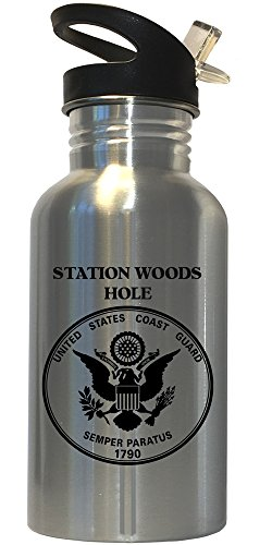 Station Woods Hole - US Coast Guard Stainless Steel Water Bottle Straw Top, 1028 by Custom Image Factory (Image #1)