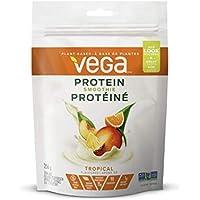 Vega Protein Smoothie Tropical Tango (11 Servings, 9 oz) - Plant Based Protein Powder, Gluten Free, Non Dairy, Vegan, Non Soy, Non GMO