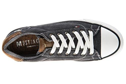 Mustang Women's 1272-301-800 Low-Top Sneakers Schwarz LL5HcIPp