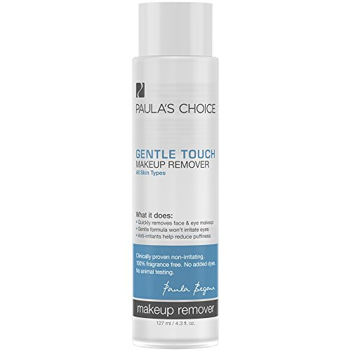 Paula's Choice Gentle Touch Makeup Remover with Antioxidants & Anti-Irritants, 4.3 oz (1 Bottle), Removes Waterproof Mascara & Longwear Lipstick (On The Spot Eye Makeup Remover)