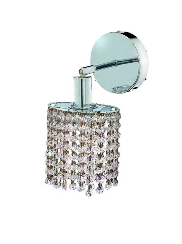 Elegant Lighting Mini Collection Wall Fixture 1-Light Round Canopy Pendant with Royal Cut Crystals, Chrome ()