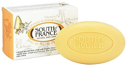 South of France Natural Bar Everyday Detox Soap, Orange Blossom Honey, 6 Ounce