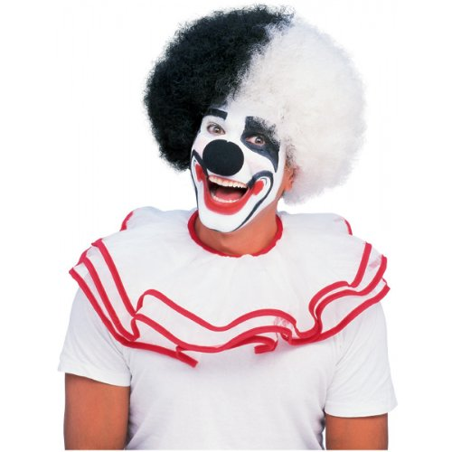Rubie's Deluxe Clown Wig, Black/White, One Size