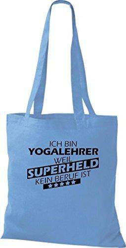 Shirtstown Bolso de tela Estoy Profesor de yoga, weil Superheld sin Trabajo ist cielo