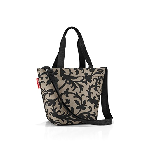 reisenthel Shopper XS, Extra Small Zippered Tote Bag with Shoulder Strap, Baroque ()