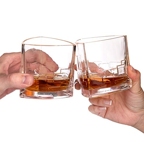 JoyJolt Revere Scotch Glasses, Old Fashioned Whiskey Glasses 11-Ounce, Ultra Clear Whiskey Glass for Bourbon and Liquor, Set Of 2 Glassware by JoyJolt (Image #4)