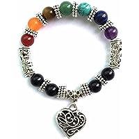 Chic Retro 7 Chakra Healing Yoga Reiki Prayer Bead Bracelet Buddha Head Bracelet