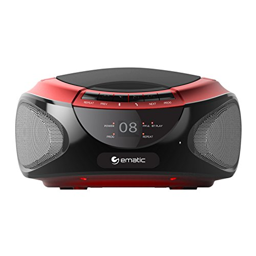 Ematic EBB9224RD CD Bluetooth Bo...