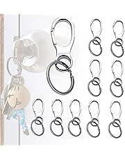 Dewlin 10 stukken Taille Opknoping Sleutelhanger,metalen bergbeklimmen sleutelhanger,Swivel Snap Hook Heavy Duty,Anti-verloren Antidiefstal Sleutelring