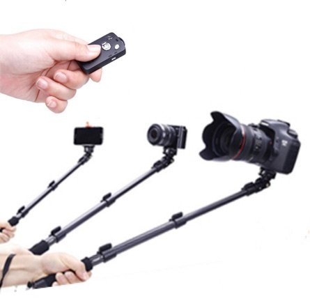 Lucky Professional High End Alloy Selfie Stick,Bluetooth Remote For Apple,Android,Gopro,DLSR Cameras by Lucky China