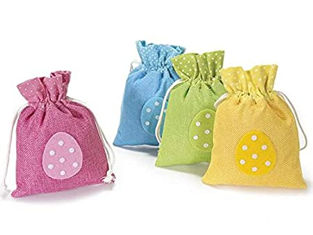 12 fabric bags with applied tie rod and egg easter gift bags 12 fabric bags with applied tie rod and egg easter gift bags negle Choice Image