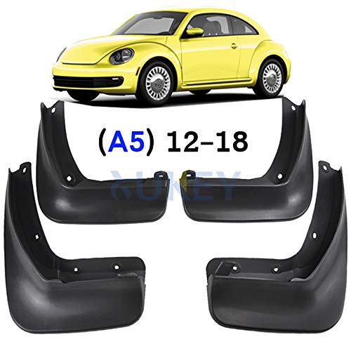 XUKEY Auto Molded Splash Guards for VW Beetle (A5) 2012-2018 Mud Flaps - Front & Rear 4 Pieces Set