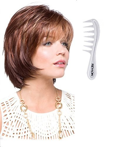 SHANNON Wig #2342 by Rene of Paris, Bundle - 2 Items: Wig and Wig Lift Comb! (Color Selected: GINGER BROWN)
