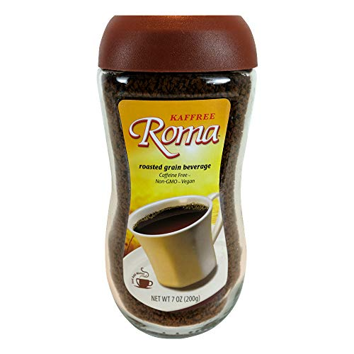 Kaffree Roma – Caffeine Free Roasted Grain Beverage, Rich Coffee Flavor, 7 Oz