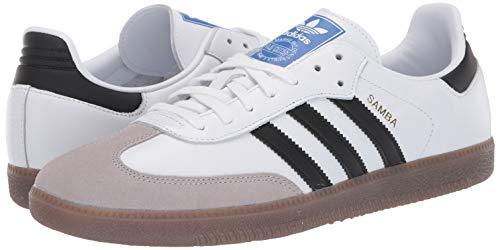 adidas Originals Men's Samba OG Sneaker White/Black/Granite 7