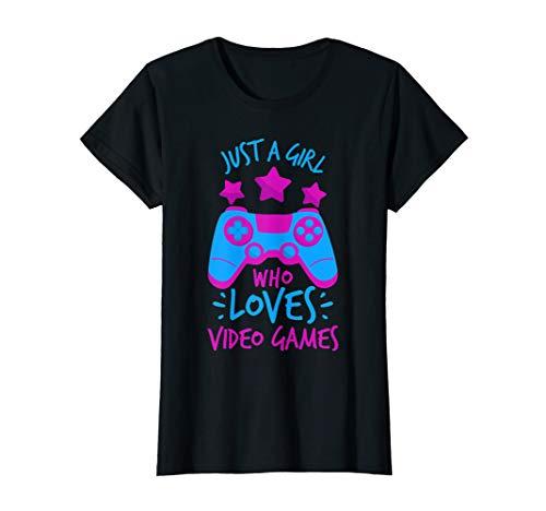 Girl Who Loves Video Games Game T Shirts for Girls Women (Girl Gamer)