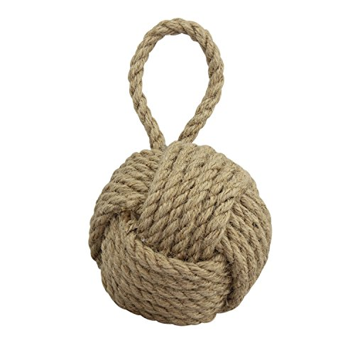 Stonebriar Natural Nautical Rope Knot Decorative Filler, Coastal Wall Decor Accent Piece, Fill for Vases, Bowls, Glass Cylinders, and Trays, Medium