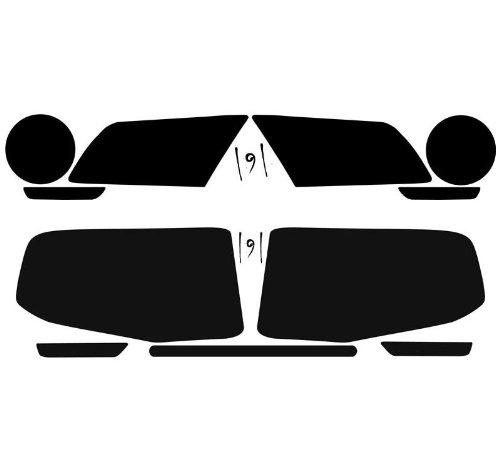 2005 2006 2007 2008 2009 Pre-cut vinyl overlay headlight PLUS tint non-GT Subject 9 DARK Fits: Mustang