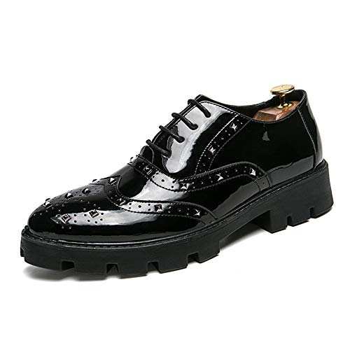 del de Charol Color Hombres Fang tamaño Brogue Rojo con Oxford Braguitas Cuero EU Negro Personalidad 42 de de de los Oxford Ocasionales Hombre shoes la 2018 los Zapatos Negocio Zapatos Informal q4wr4XTS