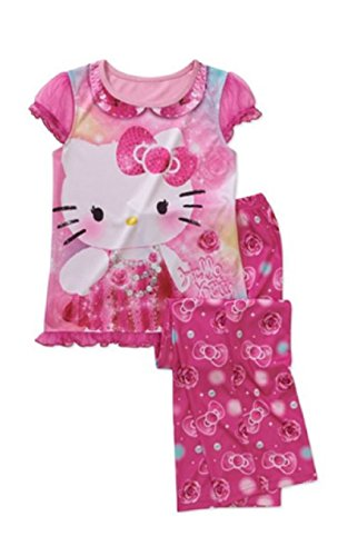Med Trunk - Sanrio Hello Kitty Toddler Girls 2pc Pajamas Set Pink (med 7/8)
