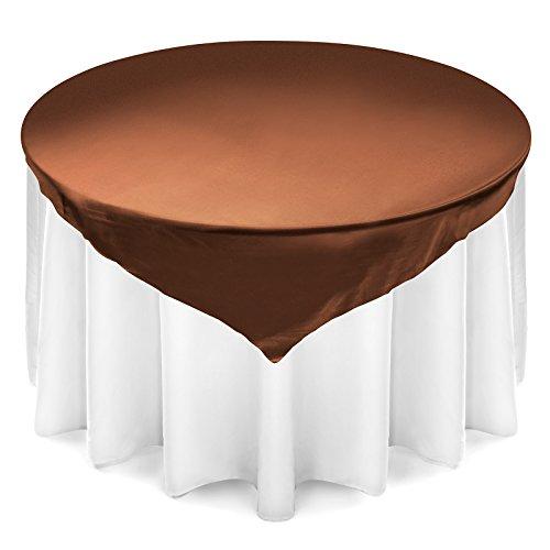 Lann's Linens Satin Wedding Table Overlay - Tablecloth Topper (72