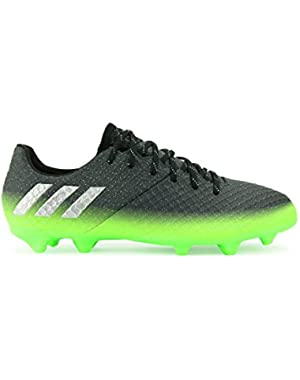 Kids Messi 16.1 FG/AG Dark Grey/Silver Metalic/Solar Green Soccer Shoes