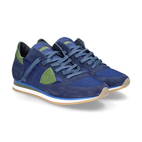 Philippe Model Sneakers Uomo TRLUW042 Camoscio Blu