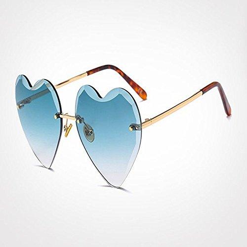 Sin Gafas Forma 5 Mujeres Chica En Corazón Gafas Sol De G22096 De Marco WANGKEAI De De Corazón De Forma Caramelo Señora Sol De 6 Gafas De En Uv400 Amor 0nvxqa