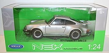 Welly NEX 1/24 Scale 24043W - 1974 Porsche 911 Turbo 3.0 - Silver