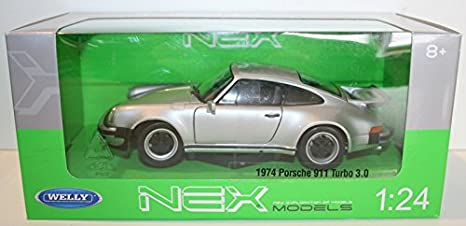 Amazon Com Porsche 911 Turbo 3 0 Silver 1974 Model Car Ready