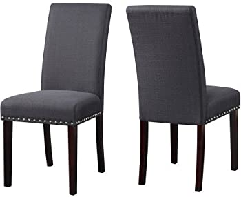 2-Set DHI Nice Nail Head Upholstered Dining Chair